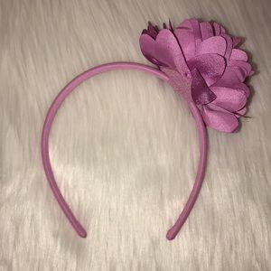 Girls Gymboree Purple Headband With Flowers